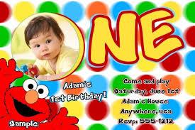 elmo sesame street 1st birthday invitations createphotocards4u