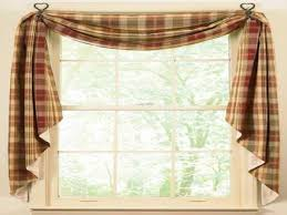 red curtain ideas country kitchen window curtains ideas swag