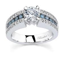blue and white engagement rings barkev s white gold engagement ring with white blue diamonds