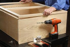 Building Cabinet Carcasses How To Make Cabinet Face Frames Pocket Hole Jigs Woodworking