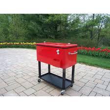patio ideas patio cooler cart plans permasteel 80 qt rolling