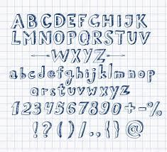 doodle pen sketch font u2014 stock vector elinacious 48728223