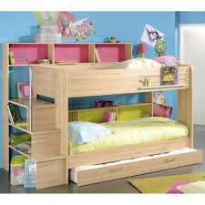 Iddylic Fun Bunk Beds With Simple Mattress Closed Pink Book Shelf - Mattress for bunk beds for kids