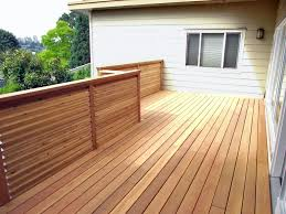 cedar decking ideas cement patio