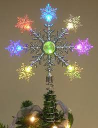 tree topper color changing battery operated led