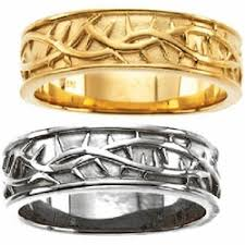 christian wedding bands crown of thorns mens wedding ring 14k yellow thorns religious