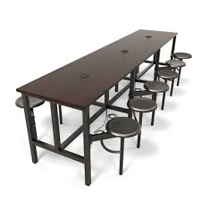 standing height folding table ofm endure series 9012 standing height 12 seat powered work table