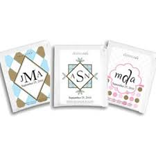 tea wedding favors personalized monogram tea wedding favors 25 designs available
