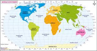 continents on map continent map continents of the