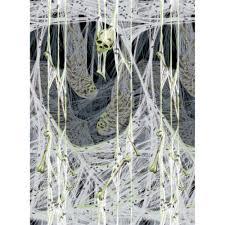 amscan 4 ft x 40 ft spider u0027s lair scene setter 678618 the home