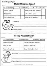 student daily report template printable progress report fieldstation co