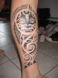 leg tattoo stencils for men nice tribal mask leg tattoo design for