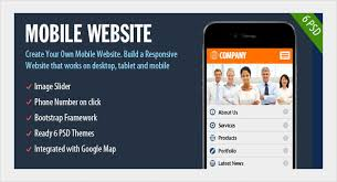 mobile website template mobile app development android app