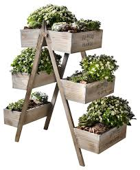 Pier One Planters by Wooden Foldable Plant Stand With 6 Seed Boxes Farmhouse