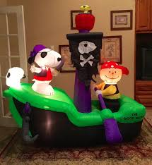image gemmy prototype halloween snoopy pirate ship inflatable