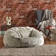 buy arctic wolf grey faux fur fur bean bags beanbagbazaar for faux