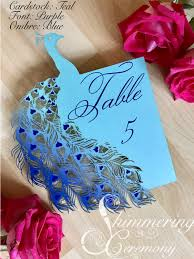 wedding table number fonts peacock wedding table number shimmering ceremony