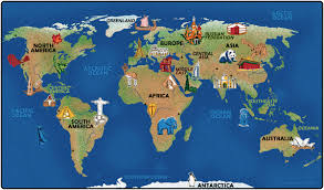 Asia World Map by Continental Wonders World Map Carpet