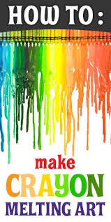 how to ideas melted crayon craft with a blow dryer diy pinterest melted