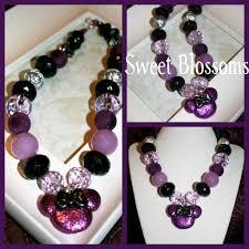 minnie halloween inspired bubblegum bead necklace on luulla