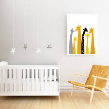 Giraffe Nursery Decor Giraffe Wall Print Fortune Homeware And Ceramics
