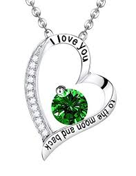 silver emerald necklace images Emerald necklace may birthstone jewelry birthday gift jpg