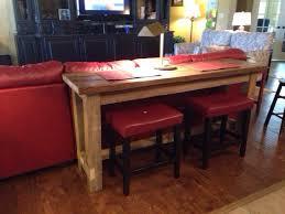 sofa bar a bar sofa table from reclaimed wood our family