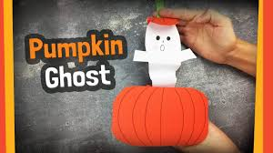 pumpkin ghost easy to make halloween crafts for kids youtube