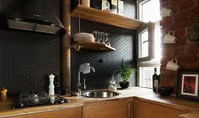 black subway tile kitchen backsplash astounding black subway tile kitchen gregorsnell at