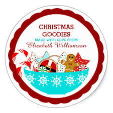 personalized christmas christmas stickers zazzle