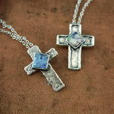 cross necklace fashion jewelry images Petite roman glass sterling silver cross necklace jpg