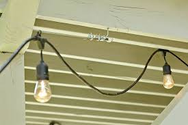 Hanging Patio Lights String How To String Outdoor Patio Lights Home Design Ideas And Pictures