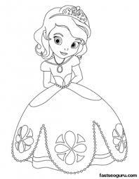 printable cute princess sofia coloring pages girls printable