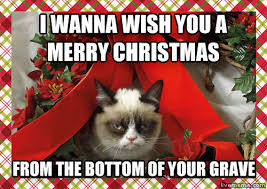 Merry Christmas Meme Generator - livememe com grumpy christmas cat