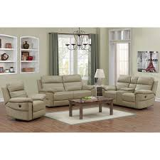 Beige Leather Living Room Set Rockhill 3 Top Grain Leather Power Reclining Living Room Set