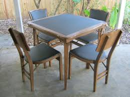 Wooden Folding Card Table Wood Folding Card Table And Chairs Set With Ideas Gallery 1199 Yoibb