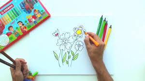 comment dessiner un bouquet de fleurs tutos by stabilo
