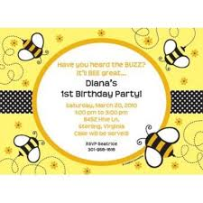 bumble bee personalized invitation personalized custom