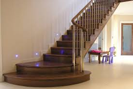 wooden stairs for interior and exterior home design studio
