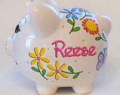 Customized Piggy Bank Personalized Ceramic Pink Mini Piggy Banks With By Rlessabenavidez