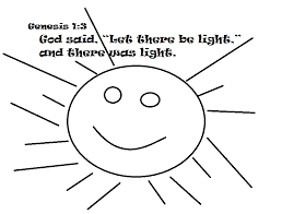 Let There Be Light Coloring Page ไม ม coloring pages