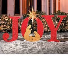Giant Christmas Yard Decorations by Joy Nativity Outdoor Christmas Holiday Yard Art Sign Christ