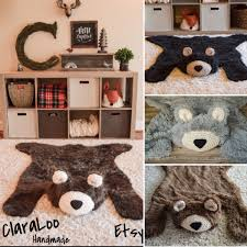 Bear Rug For Kids by Woodland Nursery Baby Bear Rugs By Claraloo Woodland Decor
