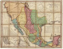 Map Of The United States And Mexico by Map Of The United States Of Mexico As Organized And Defined By