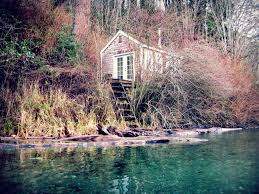 tiny beach cottage along the colvos passage near fragaria