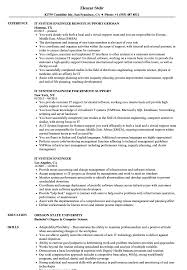 sle of resume it system engineer resume sles velvet