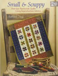 small and scrappy pint size patchwork quilts using reproduction