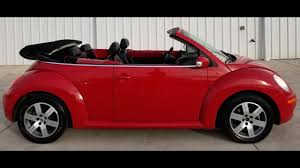 convertible volkswagen 2006 2006 vw new beetle convertible red 2313321 youtube