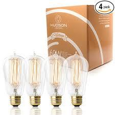 4 pack 60 watt vintage edison bulb squirrel cage filament
