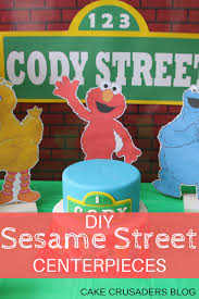 diy sesame street party decorations centerpieces elmo big bird